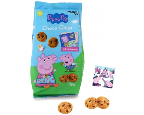 Bolachas Choco Chips Peppa Pig 100 Gr