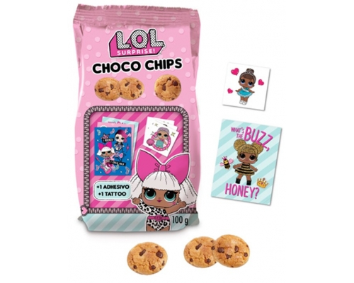 Bolachas Choco Chips LOL Surprise!...
