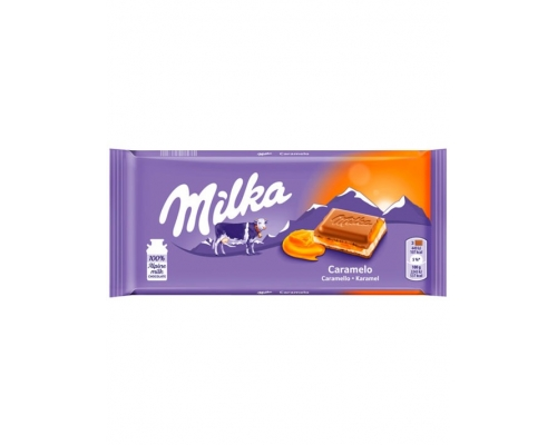 Milka Caramel Chocolate Bar 100 Gr